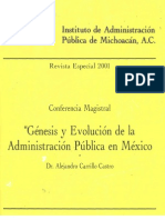 01 Gnesis y Evolucin de La Admin is Trac In Pblica en Mx