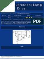 12VDC Fluorescent Lamp Driver