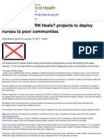Department of Health - DOH launches 'RN Heals' projects to deploy nurses to poor communities - 2011-05-12