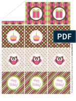 Owl Birthday Party Circles-General