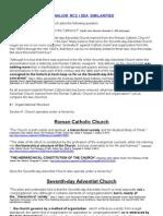 Ecumenismo Roman-SDA Quotations