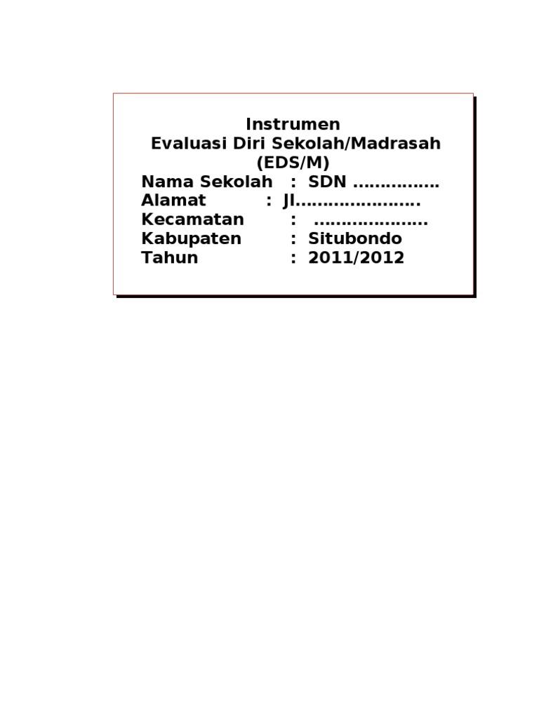 Contoh Isian Eds 8 Standar