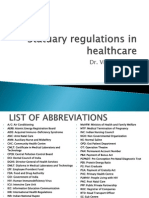 Statuary Regulations in Healthcare