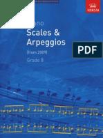 ABRSM Grade 8 Piano Scales and Arpeggios