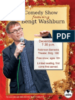 Comedy Show featuring Bengt Washburn