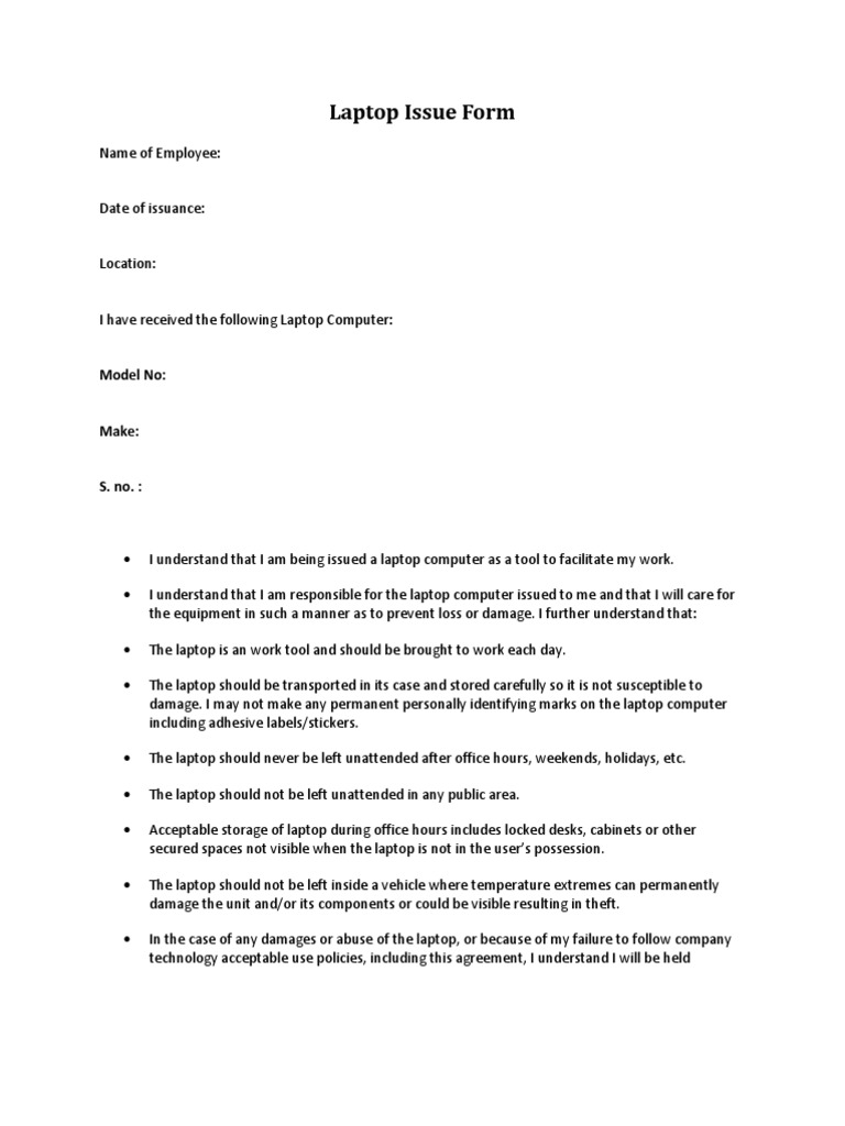 Laptop issue form laptop employment thecheapjerseys Image collections