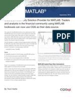 Cqg and Matlab Whitepaper