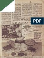 Of Pickles, Papads and Pakoras