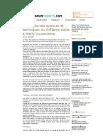 MuseumExperts - 2004-2010 Chronique d'une métropolisation annoncée en Ile de France _ Un mus�e des sciences et techniques du XVII�me si�cle � Marly-Louvecienne