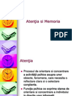 Atenţia si Memoria