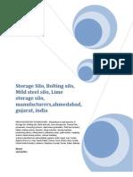 Storage Silo, Bolting silo, Mild steel silo, Lime storage silo, manufacturers,ahmedabad, gujarat, india