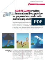 - IsO PAS223 Provides International Best Practice