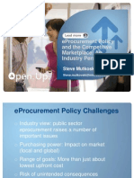 Session 3 eProcurement and the Competitive Marketplace- Stephen Mutkoski 221111