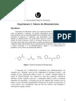Relatório da Dibenzalcetona