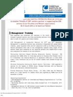 CIM Ministry Update (Dec. 2011)