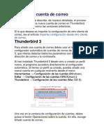 Configurar Cuenta de Correo Thunderbir