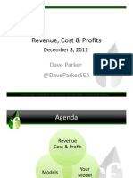Founder Institute 12.08.11 Revenue, Cost and Profit - Dave Parker