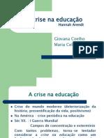 A crise na educação