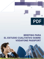 Briefing Para El Estudio Cualitativo Sobre Vodafone Passport