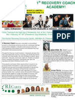 RICARES Recovery Coach Academy Flyer