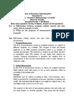 Mba Mb 0050 Set 1 Research Methodology