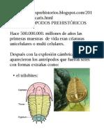 artropodos prehistoricos