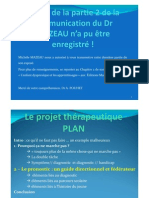 06 PREALABLES PROJET THERAPEUTIQUE