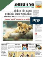 El Colombiano Primera Pagina Dic 12 2011