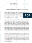 AVALIAÇÃO DO DESEMPENHO DOCENTE_Comunicado