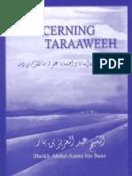 Concerning Taraaweeh - Shaikh Abdul Aziz bin Abdellah bin Baz