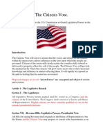 The Citizens Vote Constitutional Amendment Proposal