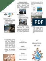 Qué es la Contaminación del Agua