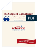 The Non Profit Tagline Report