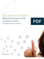 The Gender Dividend. Making the Business Case for Investing in Women