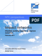 Impact Networks. Charities Working Together to Improve Outcomes