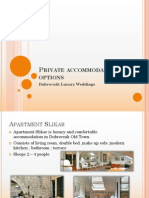 Private Accommodation Apartment Options