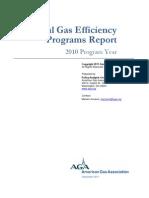 AGA Natural Gas Efficiency Programs Report - 2010 Program Year - FINAL - DeC 2011