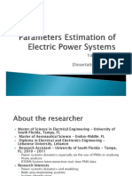 Parameters Estimation of Electric Power Systems