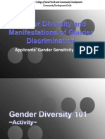 Gender Diversity and Manifestations of Gender Discrimination