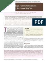 Oncology Nurse Participation  In Survivorship Care
