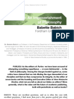 Babich-An Impoverishment of Philosophy in Purlieu_SE_Fall11_Web