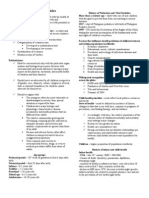 Overview of Pediatrics Notes (Dr. Bongalo)