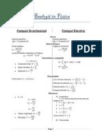 Analogii in Fizica- Campul Electric Campul Gravitational