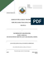 SPM Percubaan 2008 Sabah Mathematics Paper 1