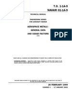 Navair 01-1a-9 Aerospace Metals - General Data and Usage Factors