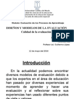diseños y modelos de evaluacion