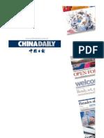 China Daily Newspaper Media Kit Rate Card 2011 2012
