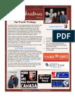 Christmas 2011 Ward Webletter