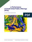 SAMPLE Long Run Performance of Greek IPOs by VRS
