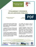 TITULARIDAD Y EFICIENCIA EN LOS SERVICIOS PUBLICOS (Spanish) - OWNERSHIP AND EFFICIENCY IN PUBLIC SERVICES (Spanish) - JABETZA ETA EFIZIENTZIA ZERBITZU PUBLIKOETAN (Espainieraz)